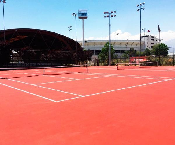 Construcción Cancha de Tenis